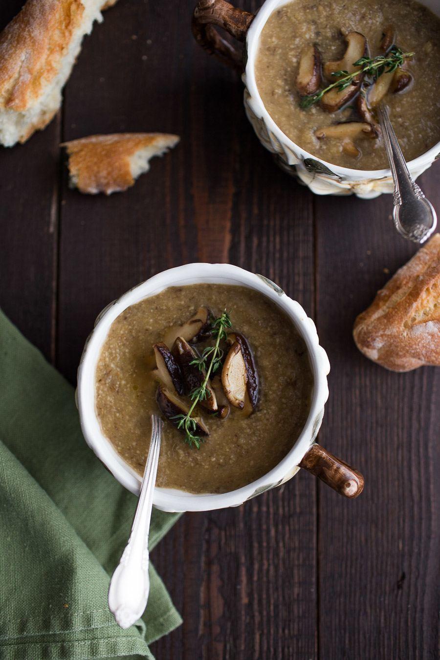 Roasted Mushroom Parsnip Soup