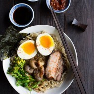Pork Ramen with Roasted Garlic
