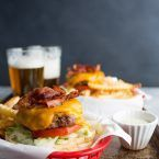 All Beef Cheddar Bacon Burger with Roasted Garlic Ranch