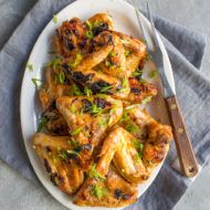 Spicy Korean Grilled Chicken Wings