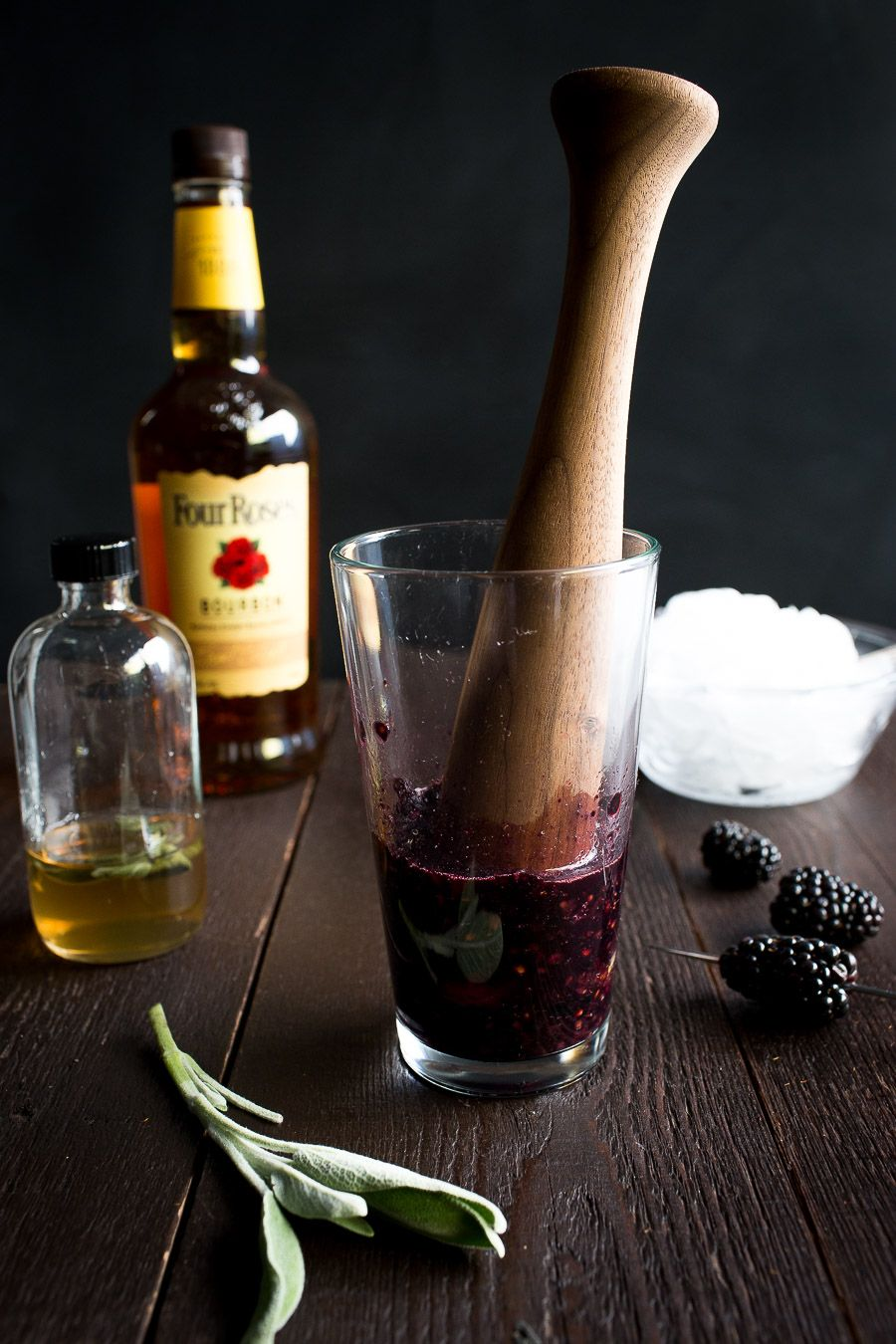 Blackberry Sage Bourbon Smash