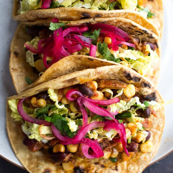 Slow Cooker Chicken Bean Tacos