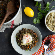 Lentil Stew with Burnt Eggplant