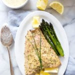Roasted Salmon with Herbed Mustard Sauce
