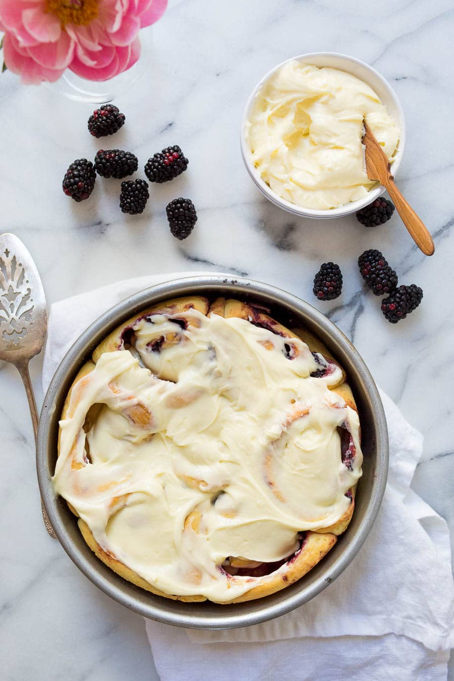 Blackberry Sweet Rolls with Lemon Curd Icing