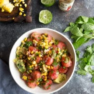 Watermelon Charred Corn Salad