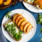Goat Cheese Peach Sandwich