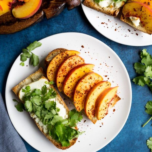 Goat Cheese Peach Sandwich