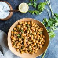 Spicy Harissa Chickpea Salad