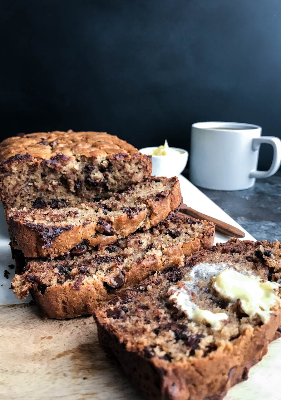 Super Moist Chocolate Chip Banana Bread