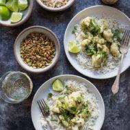 Cauliflower Green Curry