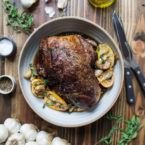 Slow Roasted Boneless Leg of Lamb
