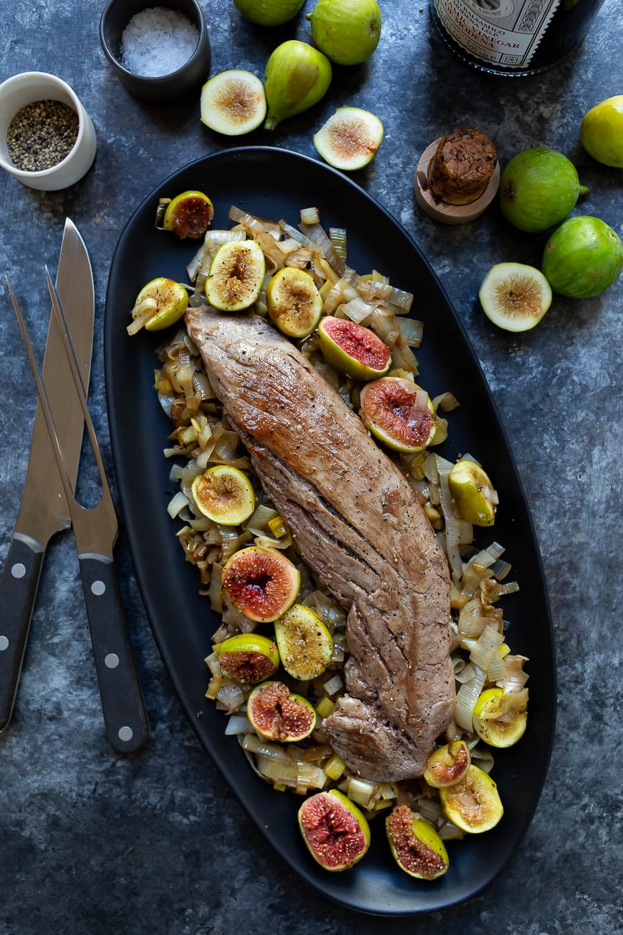 Roasted Pork Tenderloin with Figs