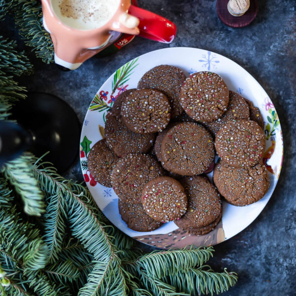 Sugar Topped​ Molasses Spice Cookies