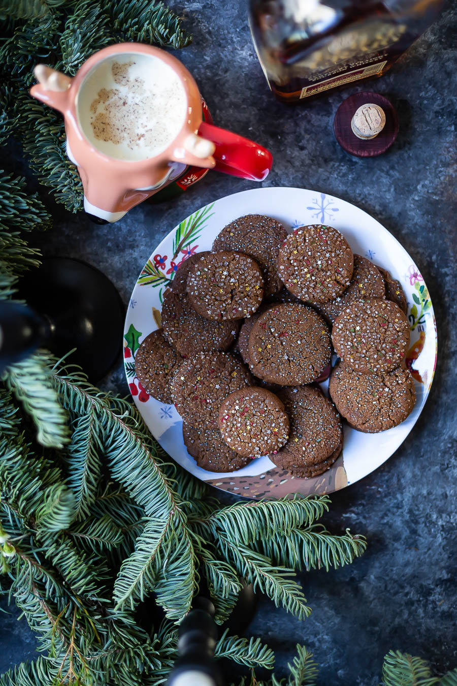 Sugar Topped Molasses Spice Cookies