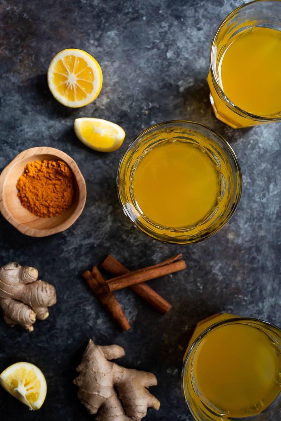 Ginger, Turmeric, Lemon Detox Tea