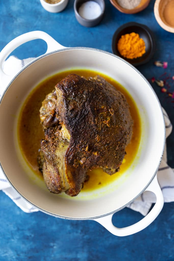 Persian Boneless Leg of Lamb with Tabbouleh Couscous