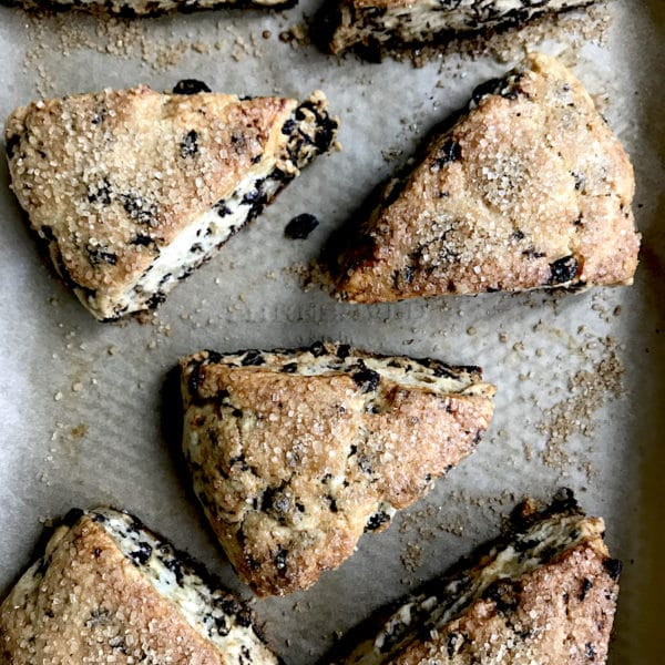 Lemon currant scone