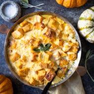 Pumpkin Caramelized Onion Gratin