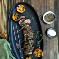 Grilled Rosemary Scented Lamb Tenderloin