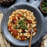 Smoky Roasted Tomato White Bean Stew