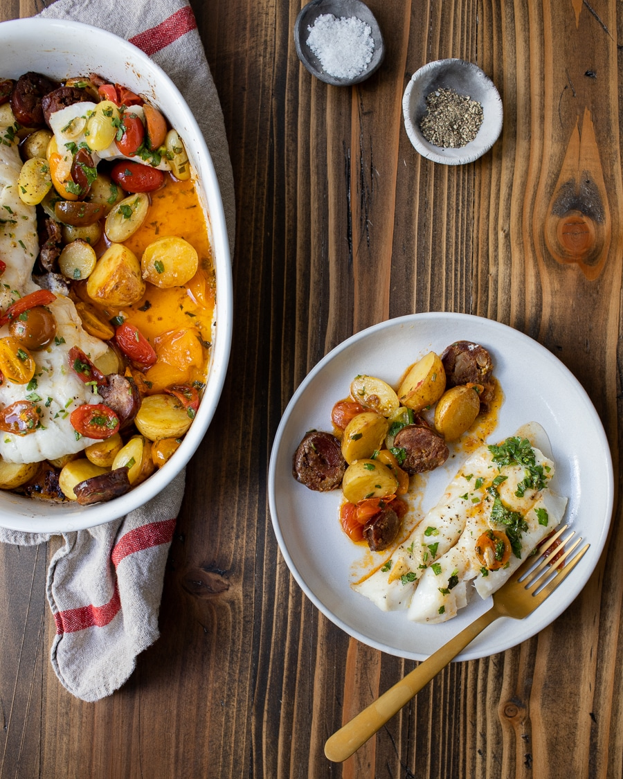 Portuguese Inspired Roasted Cod