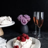 Mini Chocolate Swirl Raspberry Pavlovas